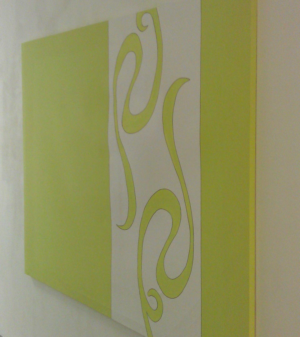 kreative Rahmengestaltung in grün in Flur
