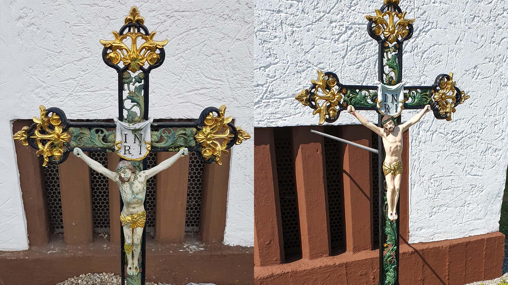 Restauration eines Jesuskreuzes