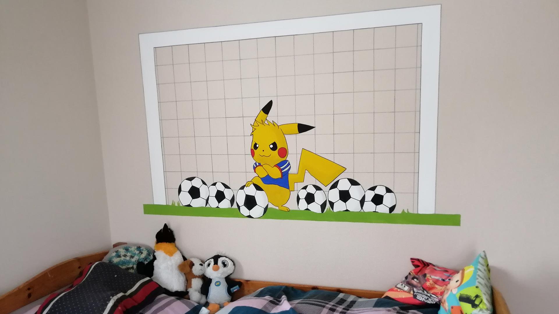 kreative Auftragsarbeit in einem Kinderzimmer
